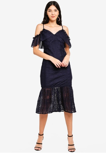 510a2b485ae Buy Liquorish Lace Midi Dress