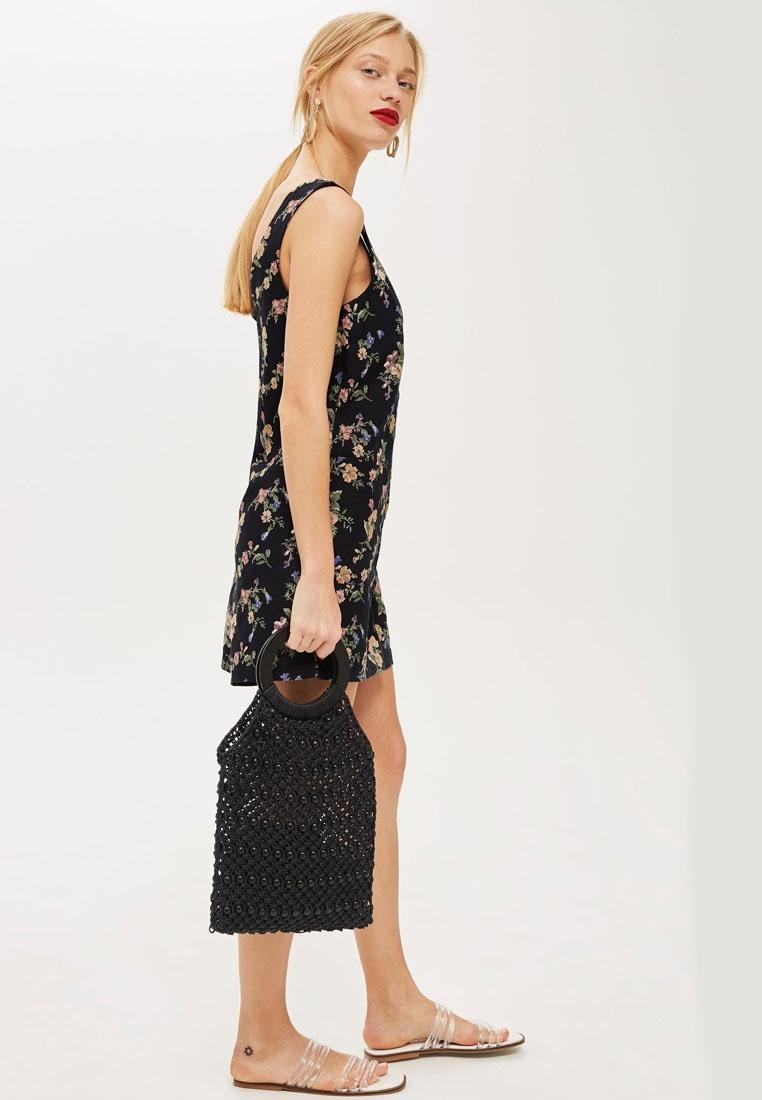 059d5d11f37b Topshop Black Floral Pinafore Dress – DACC