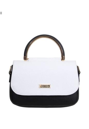 Verchini black Verchini Angular Flap Metallic Top Handle Bag 3B099AC3099C1BGS_1
