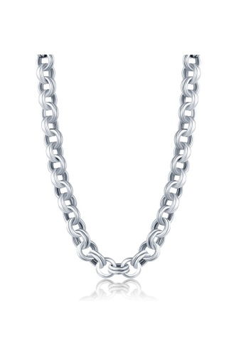 """MBLife silver Stainless Steel Link Chain Women Necklace (16"""") 1F4F5ACA5C3E73GS_1"""