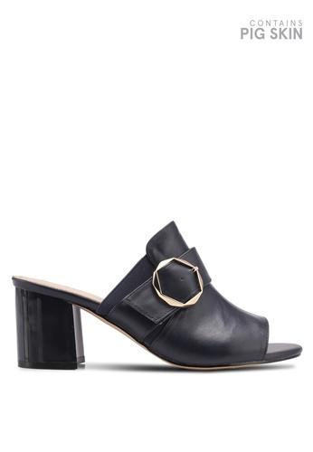 BETSY blue Block Heel Sandals 822B3SHF5F787DGS_1
