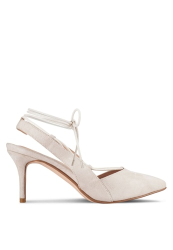 ZALORA white Sling Back Pump with Ankle Strap 24AC2SHC79FDDBGS_1
