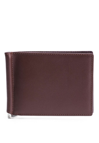 Faire Leather Co. brown Specter VT1 Bifold Wallet with Money Clip (Dark Brown) - Slim Leather Wallet FE220AC94BB71FGS_1