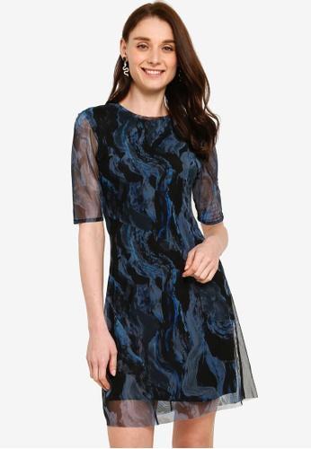 Desigual black Vest Katia Printed Dress 1F15FAA6A02BC0GS_1