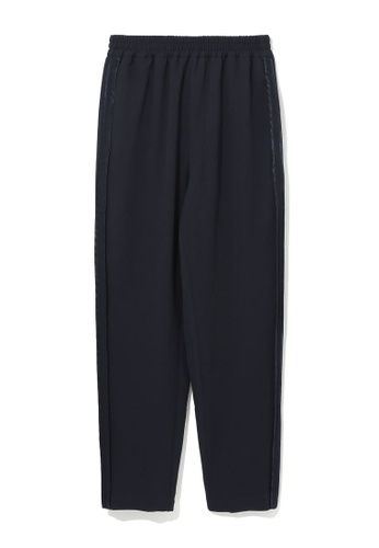 izzue navy Side piped pants 3393BAA1982620GS_1