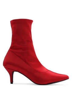 1fcac4165ff NA-KD red Satin Kitten Heel Sock Boots 2030FSH434F974GS 1