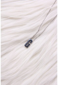 Mini Slide Initial Necklace G stainless