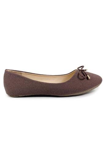 BNC brown Flat Ballerina 692B2SHF0346E1GS_1
