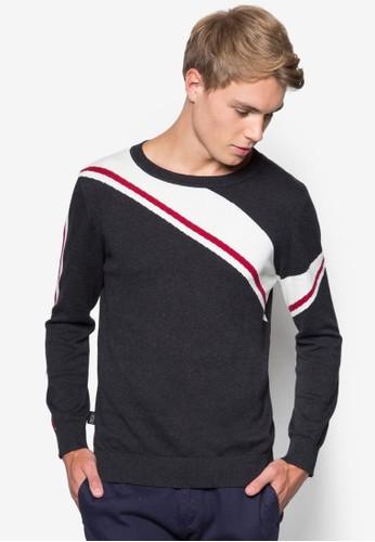 撞色條紋針織衫esprit門市, 服飾, 外套