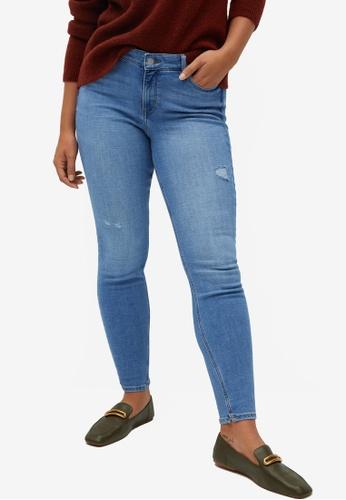 Violeta by MANGO blue Plus Size Super Slim-Fit Andrea Jeans AAB2BAA0D0485EGS_1