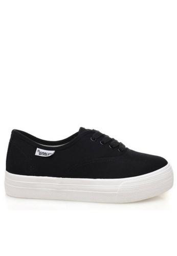 Twenty Eight Shoes black Basic canvas platform sneaker 5115 TW446SH84UADHK_1