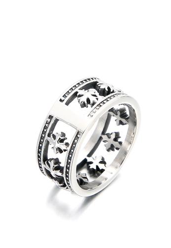 HAPPY FRIDAYS Cross Titanium Steel Ring KL101269 D904AAC215D3BDGS_1