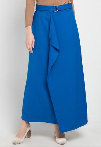 OMARA blue Tiara Skirt 8959FAA94ADBF9GS_1