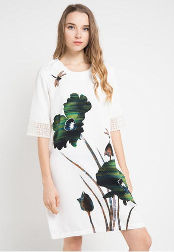PERSONAL STYLE (P.S) white H Line Dress 3D364AA1BFFB5EGS_1