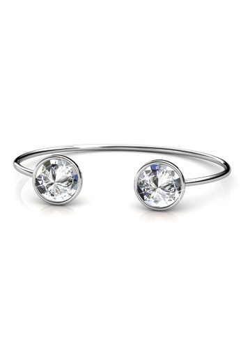 Her Jewellery silver Duo Crystaline Bangle - Made with premium grade crystals from Austria 82430AC99AF34EGS_1