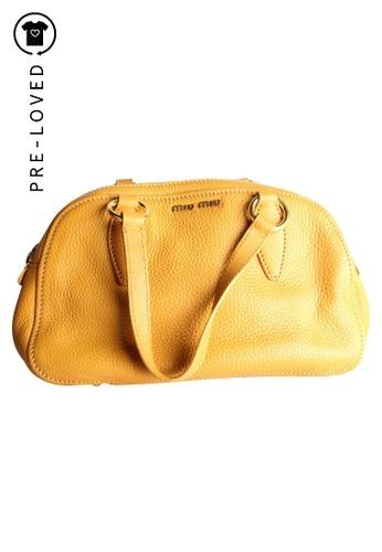 Miu Miu yellow Pre-Loved miu miu Yellow Bauletto Vitello D73EFACD999C77GS_1