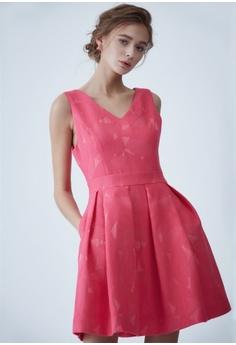 cc774b879d6ae LE BRODE pink V collar sleeveless dress AB731AA2F167BCGS 1