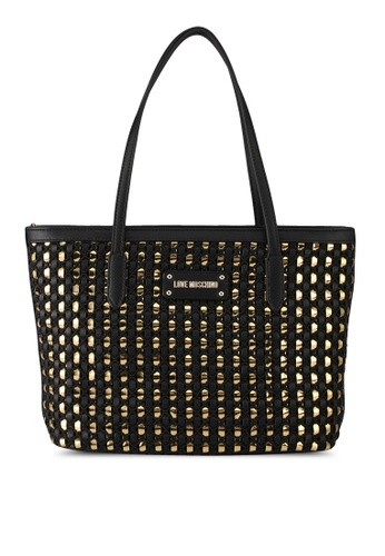 Love Moschino black and gold LOVE MOSCHINO Borsa Tote Bag LO478AC0SXXVMY_1