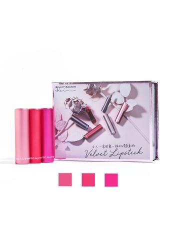 BEAUTYMAKER pink Velvet Lipstick Gift Set Dusty Rose E462EBE647B9D4GS_1
