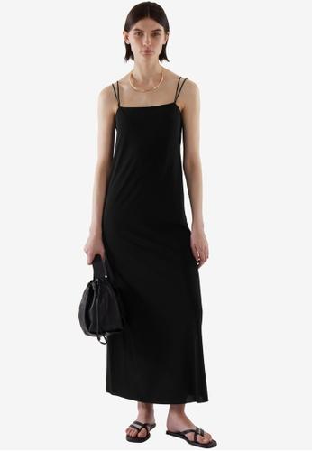 COS black Slip Dress 112EDAAB35E16EGS_1