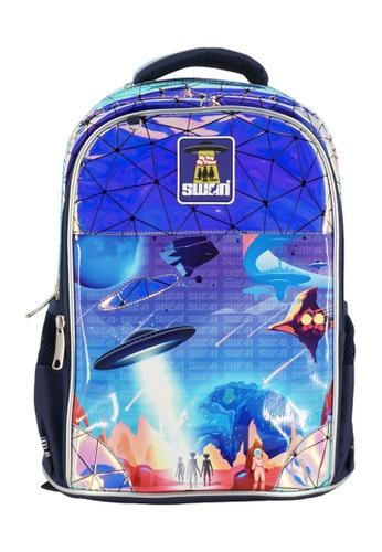 Swan blue Swan Smile Victor 2 Primary School Bag - SPACE 85ED9KC18F7C0AGS_1