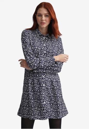 Dorothy Perkins navy Navy Seamed Shirt Dress 66D1EAA0BCCD4BGS_1