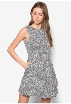 Collection Pleat Front Fit& Flare Dress
