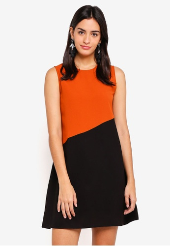 ZALORA multi Colorblock Flare Dress 38B44AA81CED69GS_1