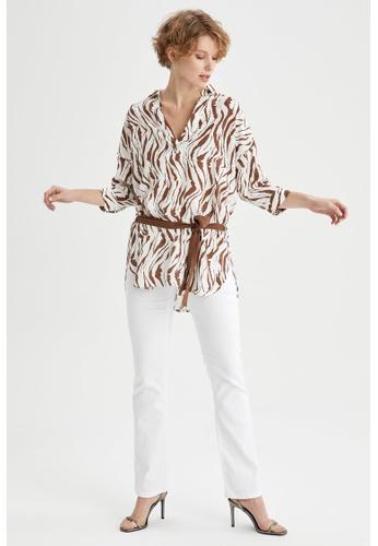 DeFacto beige Woman Woven Long Sleeve Tunic 2D6D3AA55505F2GS_1