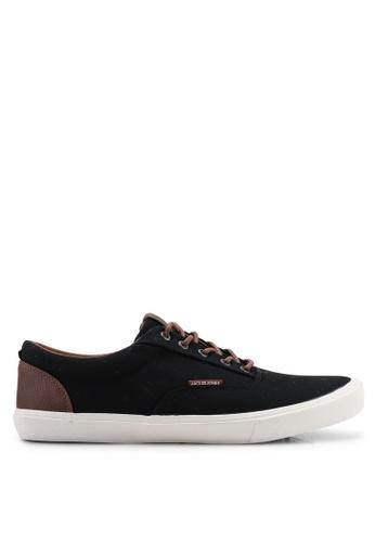 Jack & Jones black Vision Sneakers EDE49SH9DDD76AGS_1