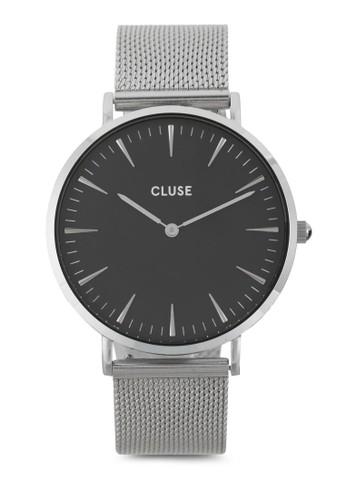 La Bohèesprit outlet 高雄me 刻度顯示不銹鋼網狀圓錶, 錶類, 不銹鋼錶帶