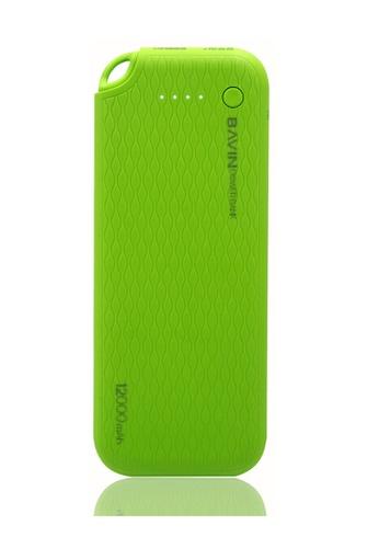 BAVIN green Lightweight Portable 12000mAh Powerbank FCFCBAC6C8DA77GS_1