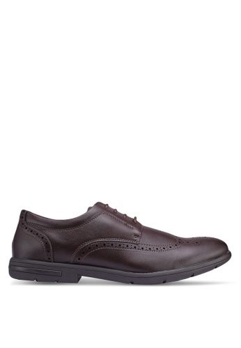 Bata brown Perforated Shoes B25FDSHC289797GS_1