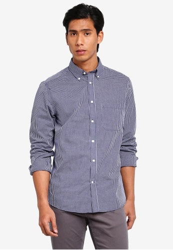 OVS 藍色 經典長袖襯衫 DE175AA0C42063GS_1