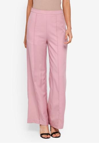 Lubna pink Pintuck Pants 1C167AA0D7DEACGS_1