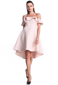 9d5a20e7390c DreamTales Wardrobe pink BarDot Ruffles Asymmetrical Hem Dress  03AC5AA6D884B2GS 1