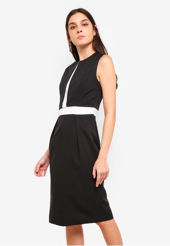 2dfefdc4e3f2 Shop ZALORA Contrast Semi Formal Dress Online on ZALORA Philippines