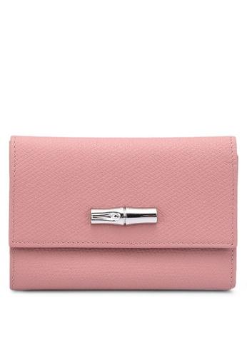 LONGCHAMP pink Roseau Wallet 8C115AC0D4E3E4GS_1