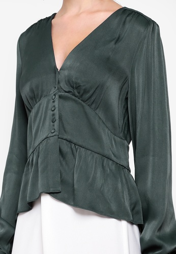 354a7bc4849c0e Buy Forever New Dorothy Plunge Button Satin Top Online