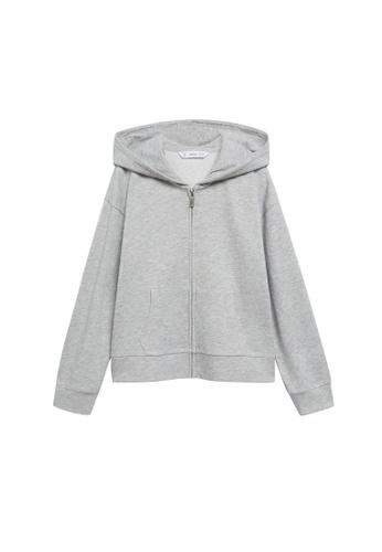 MANGO KIDS grey Hoodie Cotton Sweatshirt CDA85KA1579549GS_1