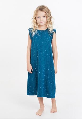 Gen Woo blue Polka Dot Night Dress by Gen Woo 4BDBBKA3C26B1EGS_1