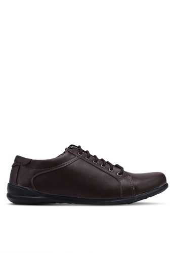 Rocklander brown Faux Leather Sneakers 32CB7SH223AD86GS_1