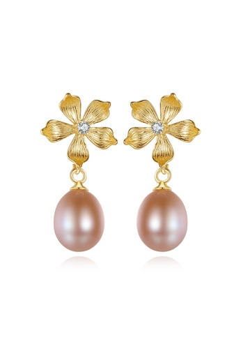 A.Excellence pink Premium Pink Pearl Elegant Earring C2731ACE765E8BGS_1
