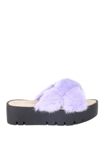 London Rag purple London Rag Women's Summer Purple Faux Fur Slipper SH1389 3162FSH0CEE19FGS_1