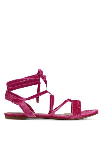 Velvet pink Velvet Sandals 3C961SH09BF3FEGS_1