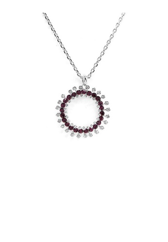 Glamorousky silver Twinkling Wheel Pendant with Silver and Purple Austrian Element Crystals and Necklace 67DCCACF7A465AGS_1