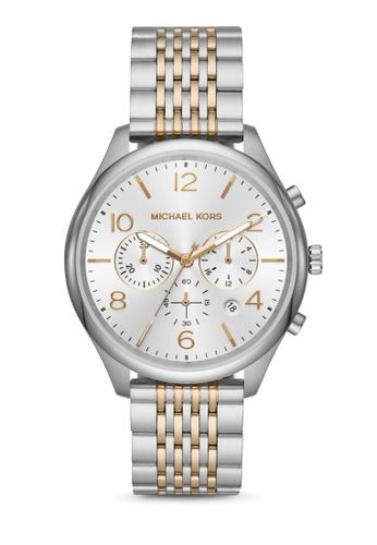MICHAEL KORS multi and silver Merrick Chronograph Watch MK8660 20D58ACA1D0C47GS_1