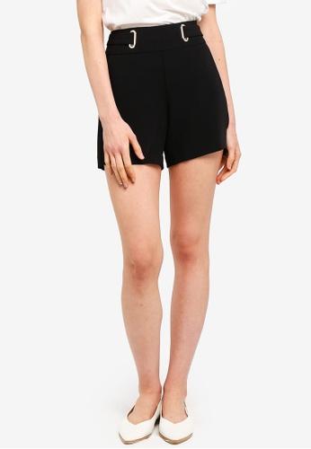 ESPRIT black Metallic Eyelet Woven Regular Shorts ABA5FAA095C0EEGS_1