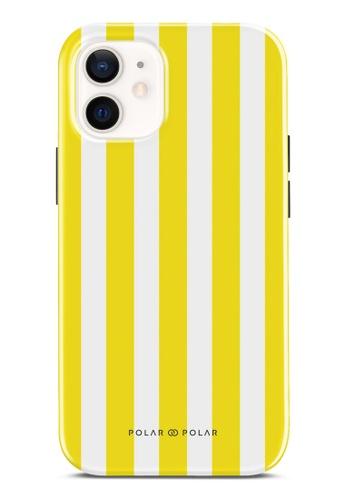 Polar Polar yellow Yellow Stripe Dual-Layer Tough Case Glossy For iPhone 12 mini 6C396ACCC84088GS_1