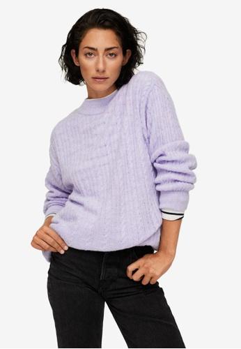 Mango purple Oversize Knit Sweater 969B5AA230068BGS_1
